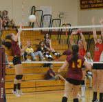 2011 Girls Volleyball vs Fairfield Warde 10/14